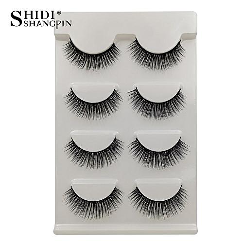 ddf71a284dc Generic Anself SHIDISHANGPIN 4 Pairs Fake Eyelashes False Eyelashes Natural  Long Lashes Makeup Lashes Strip