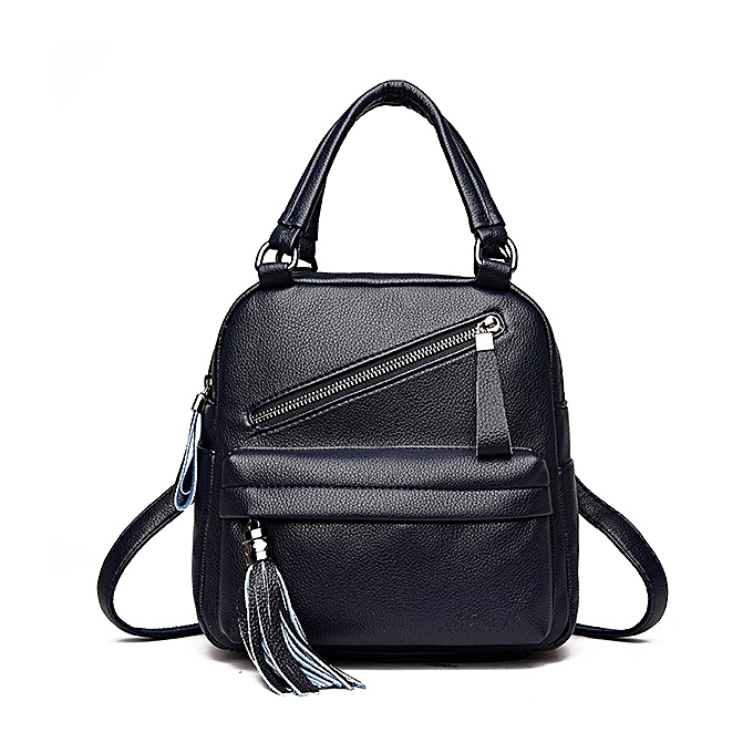 8962ebd497b Women Casual Handbag Solid Soft Faux Leather Backpack Multi-function  Crossbody Bag