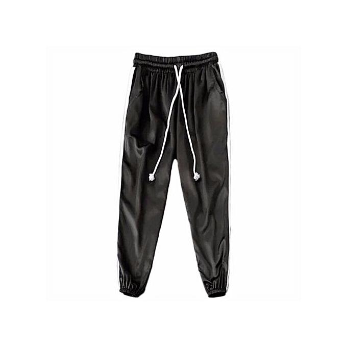 Femmes Woman New Korean Harajuku Striped Pants Casual Thin Feet Trousers Sweatpants Fashion Causal Sweetie Silk