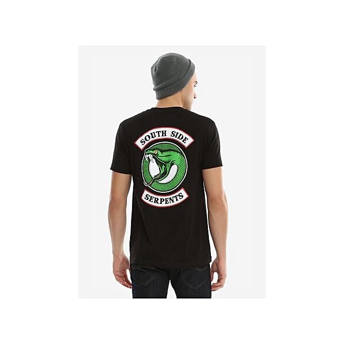 2ab0cdffd446 Fashion Fashion Men's Short Sleeve Cotton T-shirt RIVERDALE SOUTHSIDE  SERPENTS CIRCLE LOGO T-SHIRT Mens Funny Tshirts