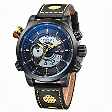 Watches, 3401 Fashion Casual Sports Watch Quartz LED Back Light Waterproof Men Watches - Black