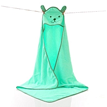 100% COTTON HOODED TOWELS- GREEN