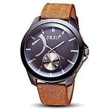 SBAO Symphony Fashionable Personality High-grade Business Belt Watch     - Khaki