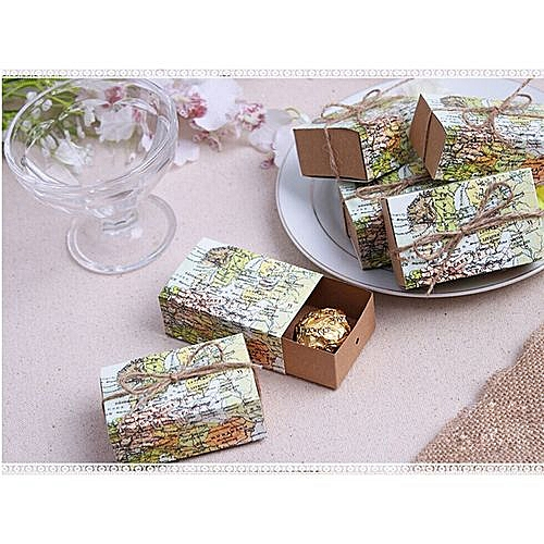 World Map Party Supplies.Generic Braveayong 20 Pcs World Map Wedding Party Baby Shower Favors