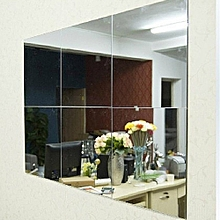 16Pcs Bathroom Square Removeable Self-adhesi Ve Mosaic Tiles Mirror Wall S Tickers Home Decor