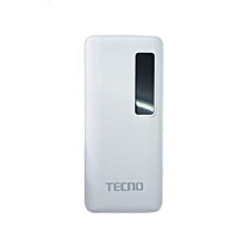 30000MAH Power Bank With Flashlight and LED Display- White