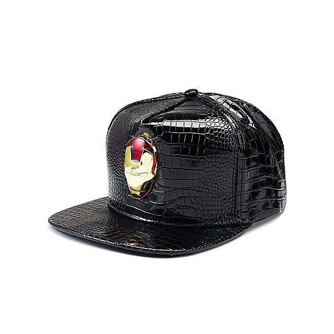 Popular Hats Ironman Baseball Cap Decoration Hip-hop Type Men And Women  Fashion Leather Cap f84d6b08de6