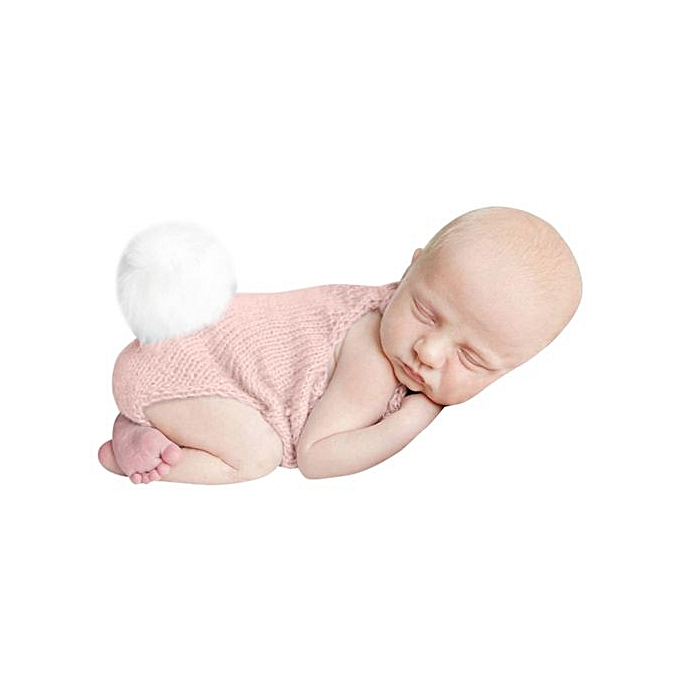 815c6a339b0 Braveayong Newborn Knit Photo Baby Rabbit Romper Jumpsuit Costume Photography  Props -Pink