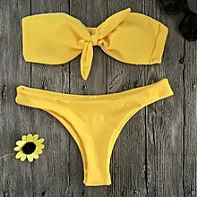 Xiuxingzi Women Bikini Set Swimwear Push-Up Padded Wrap Chest Bra Swimsuit Beachwear
