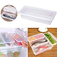 Kitchen Drain Water Preservation Refrigerator Refrigerated Storage Bag Case-White