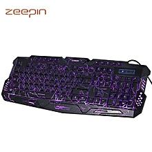 ZEEPIN M - 200 Bilingual Russian / English Pro Gaming Keyboard 3 Backlight Modes USB Powered 19 Keys Conflict-free