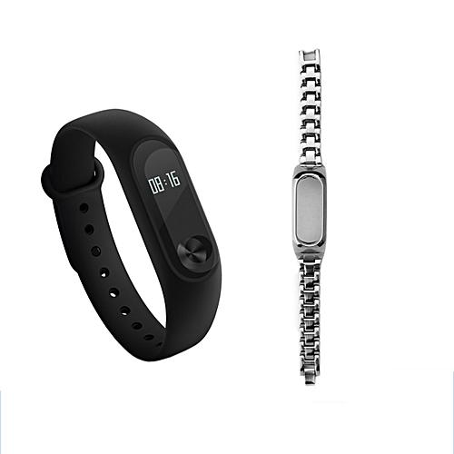 "Mi Band 2 Smart Wristband W/ Steel Strap 0.42"" OLED Touch Screen. Xiaomi"