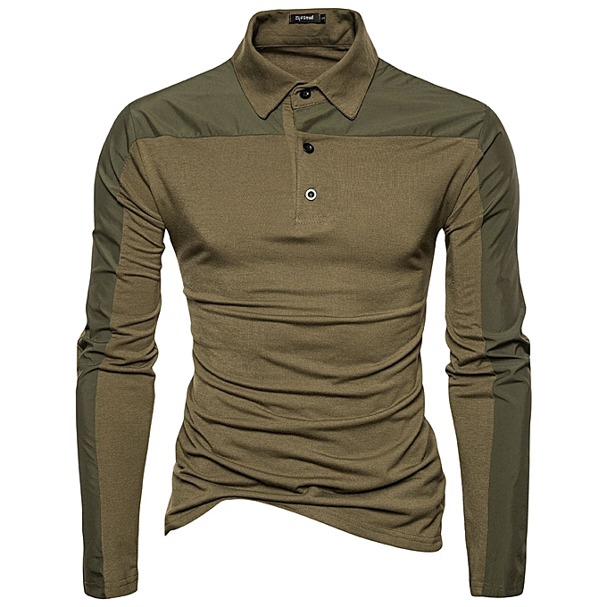1508569b22c8 Spring Men Cotton Solid Color Long Sleeve Golf Shirts Multi-color Fall  Leisure T-