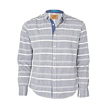 Grey and White Striped Shirt