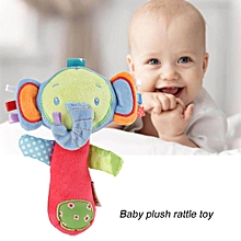 Cartoon Animal Handbell BiBi Sound Baby Rattle Stick Infant Soft Plush Funny Toy
