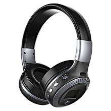 Active Noise Cancelling Bluetooth Wireless Over Ear Headphones with Microphone black & gray