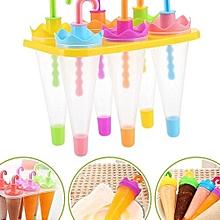 Umbrella Shape Make Frozen Juice Ice Cream Lolly Yogurt Popsicle Maker Mold 6pc