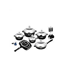 22pc Die Cast Aluminum Cookware Set.