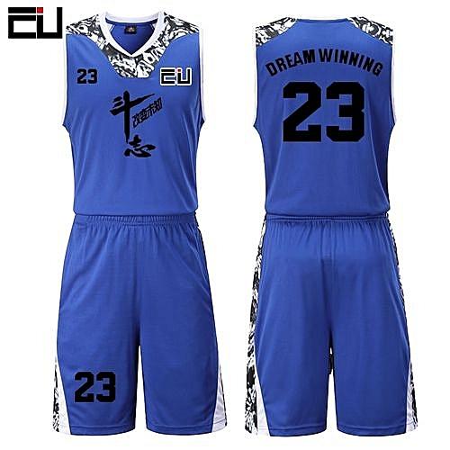 308e2edcd Eufy High Quality Men s Customized Team Basketball Sport Jersey Uniform -Blue(JY-1622)