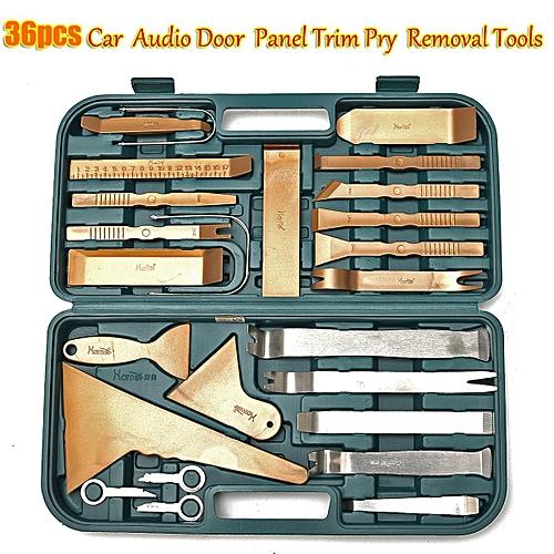 36PCS Car Door Trim Panel Clip Opening Pry Kit Radio Removal Repair Tools  Sets