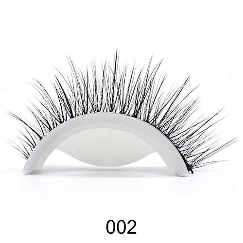 efa47f6d40e Generic 3D Mink Reusable Self-adhesive False Eyelashes Natural Curly Thick  No glue Fake Eyelashes Make-up Tools Eye Lashes Extension(2)