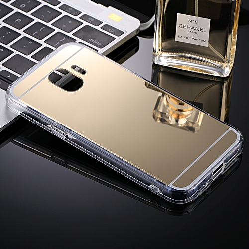 wholesale dealer 08704 26989 For Galaxy J2 Pro (2018) Acrylic + TPU Electroplating Mirror Protective  Back Cover Case(Gold)