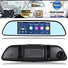 Dual Lens 7'' HD 1080P Car Rear View Mirror Camera Recorder Vehicle Dash Cam DVR