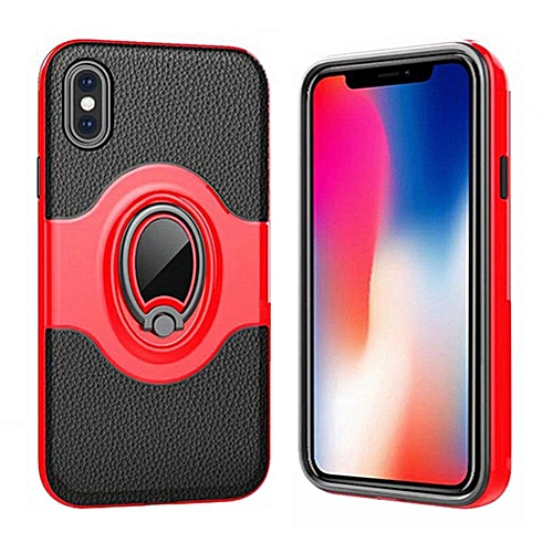 Buy Generic Case For For Iphone X 360 Degree Rotating Ring Kickstand