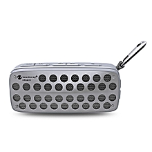 NR - 4011 Waterproof Wireless Bluetooth Speaker Stereo Sound Player-GRAY