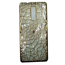 X601-Infinix - Back Cover - Gold & Clear
