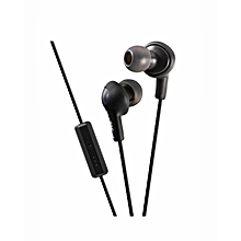 HA-FR6 - Gumy Plus Inner Ear Headphones - Black