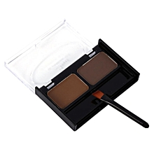 Portable 2 Colors Natural Waterproof Eyebrow Powder Makeup Shadow With Brush(#3)