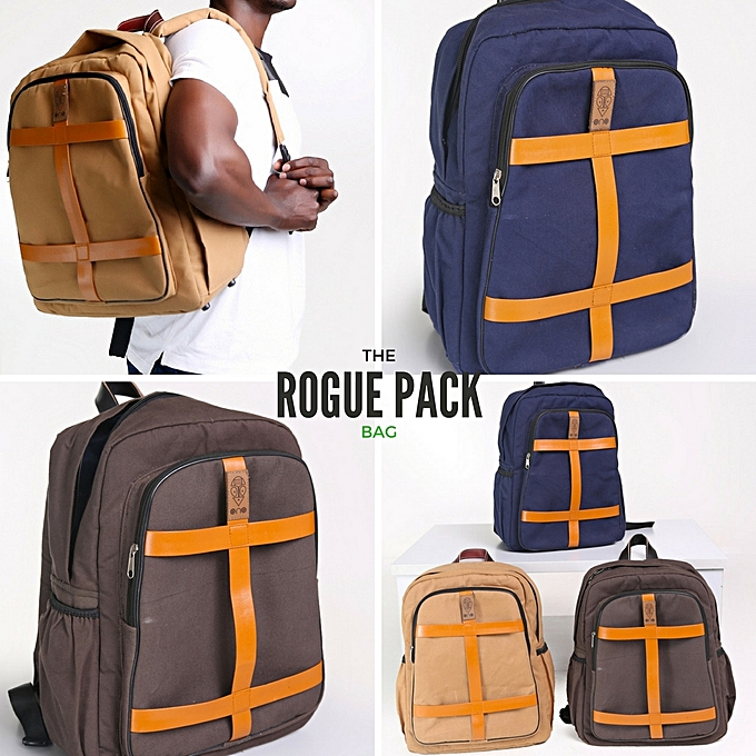 Laptop Backpack Anti-theft Water Resistant Travel laptop backpack School  Bookbag for College Travel Canvas Rucksack-Navy Blue