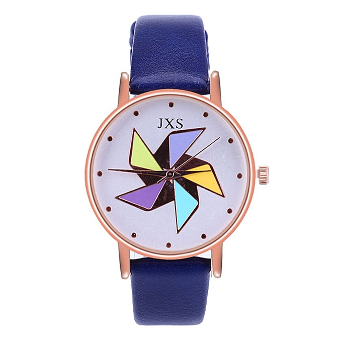 00822a9d4 shioakp Women Fashion Luxury Leisure Set Auger Leather Steel Quartz Watch