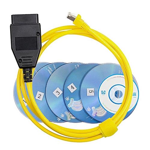 E-SYS ICOM For BMW brush hidden car diagnostic line yellow