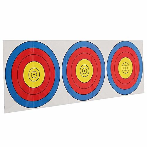 3 Spot Targets Archery Paper Archery Shooting Target Partice Paper 20*60cm