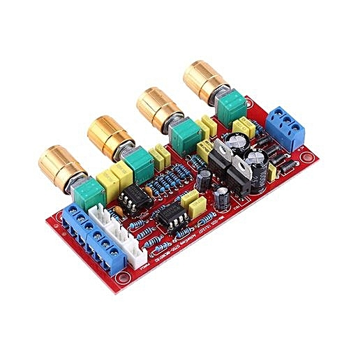 HIFI Preamp NE5532 Pre-amplifier Tone Board Kits AC 12V OP-AMP HIFI  Amplifier(Assembled Board)