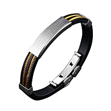 Retro Cross Silicon Chain Link Bracelets For Men Christmas Gifts Color:842 Gold Models