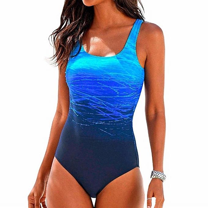 Buy Generic Womens Swimming Costume Padded Swimsuit Monokini Push Up