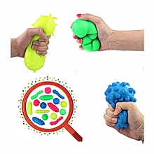 Squishy Bacteria Stress Balls Reliever Fun Gift Stress Virus Model Toy-Green