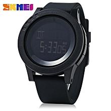 1142 Men Sport LED Digital Watch Water Resistance Running Wristwatch_BLACK