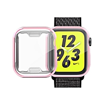 Full Coverage Plating TPU Case for Apple Watch Series 4 40mm (Pink)