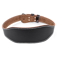 Cowhide Body Building Weight Lifting Dipping Waist Belt Exercise Gym Training L