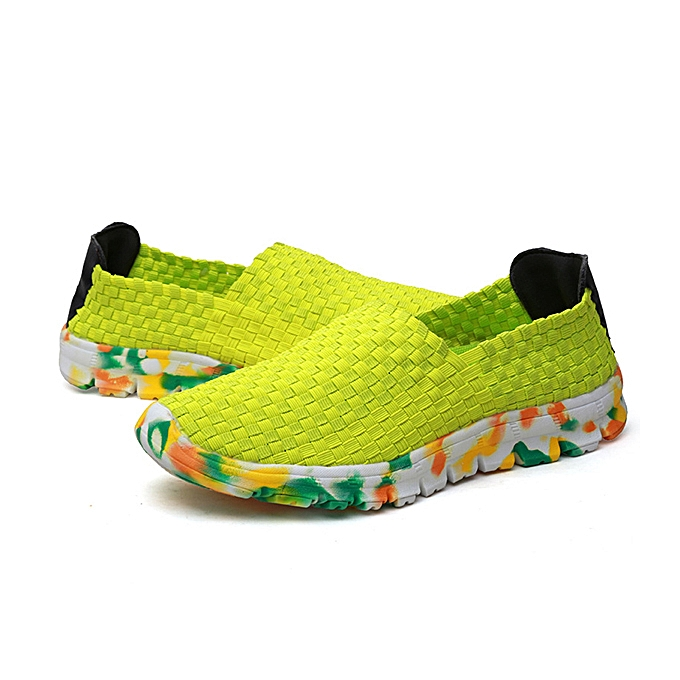 d59993cb5c5 US Size 5-13 Women Hand-made Knit Shoes Casual Breathable Comfortable  Walking Shoes