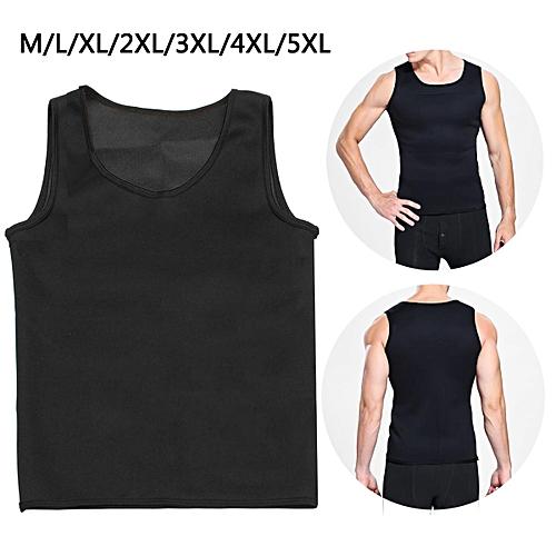 24cdec6216b1a Generic Neoprene Body Shaper Men Slimming Vest Thermo Sweat Sauna Waist  Trainer Belt 5XL