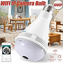 QP137 IP Camera WiFi 2MP HD 1080P 360 Degree Panoramic Bluetooth Speaker Bulb