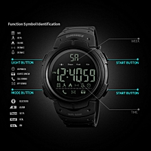 Men's 5ATM Water-resistant Sport Fitness Tracker Smart Watch BT Pedometer / Stop Watch / Count Down / Alarm / Distance / Calorie / Calls Remind / Remote Camera App for iPhone Samsung