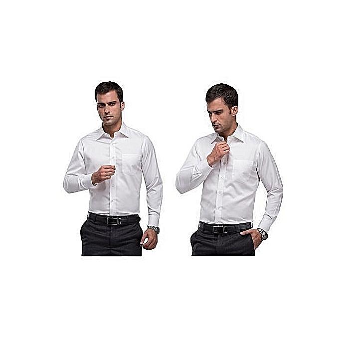 Buy Generic Shirts For Men 3 Pack Black White Blue Slim Fit