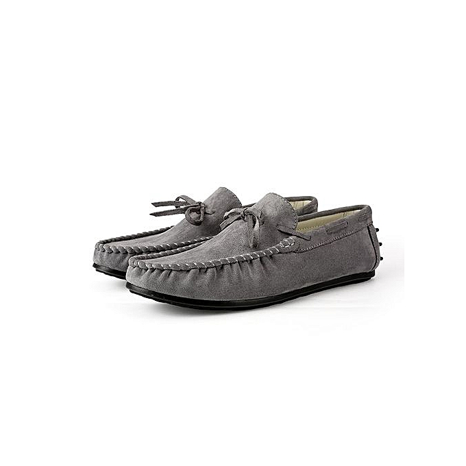 07960764b4a Fashion New Mens Loafers Casual Moccasins Flats Driving Shoes Grey ...