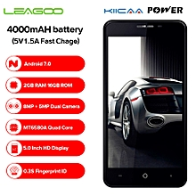 KIICAA POWER 3G Smartphone 5.0 Inch 2GB RAM + 16GB ROM Android 7.0 Light Sensor-Black